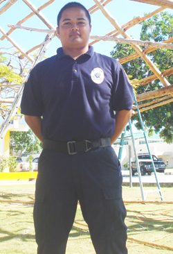 Officer Servando Regis - Officer-In-Charge of the section.
